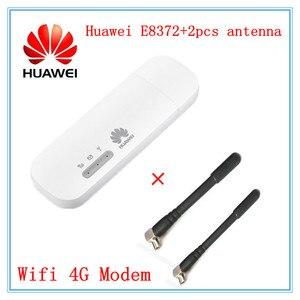 Unlocked Huawei E8372 E8372h-153 E8372h-608 E8372h-155 with 2pcs Antenna 150M LTE USB Wingle 4G WiFi Modem dongle car wifi E3372(China)