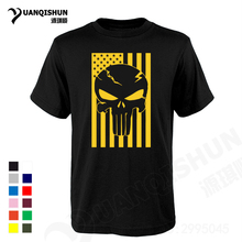 T-shirt American Flag-Skull Head