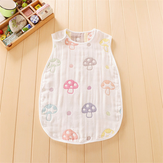 Four Seasons Available  high quality Boy Girl 100%Pure cotton gauze vest sleeping bag Child Baby four/six layers Preventing Tipi
