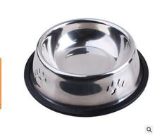 Feeder Practical Dog Dishes Eating Tool Cat Stainless Steel Anti-skip Pet Bowl 15CM