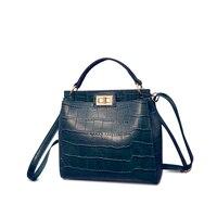 Classy Corcodile Print Leather Bag Women Soft PU Handbag Newest Stylish Ladies Small Shoulder Bag Utilitatian