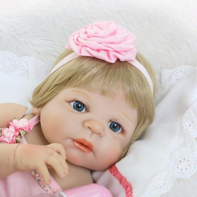 Reborn Doll Full Silicone Body Lifelike Baby Newborn Doll 2