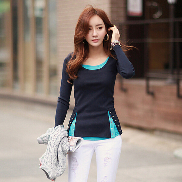 Woman Tshirt Top 2017 Fashion Knitted Cotton T Shirt Women Tops And Tees Button Tee Shirt Femme Casual Camisetas Mujer Plus Size