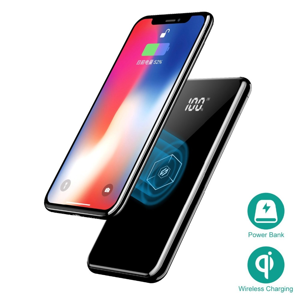 Wofalo qi Wireless Charger 8000mAh Portable For USB Power