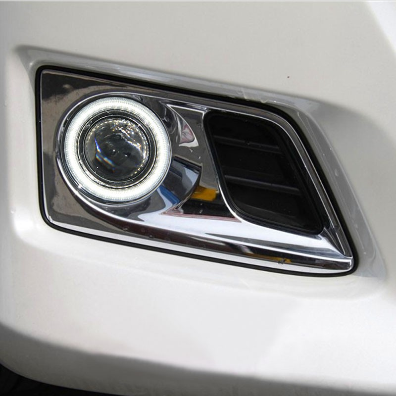 eOsuns Innovative COB angel eye led daytime running light DRL + halogen Fog lamp + Projector Lens for TOYOTA Alfa