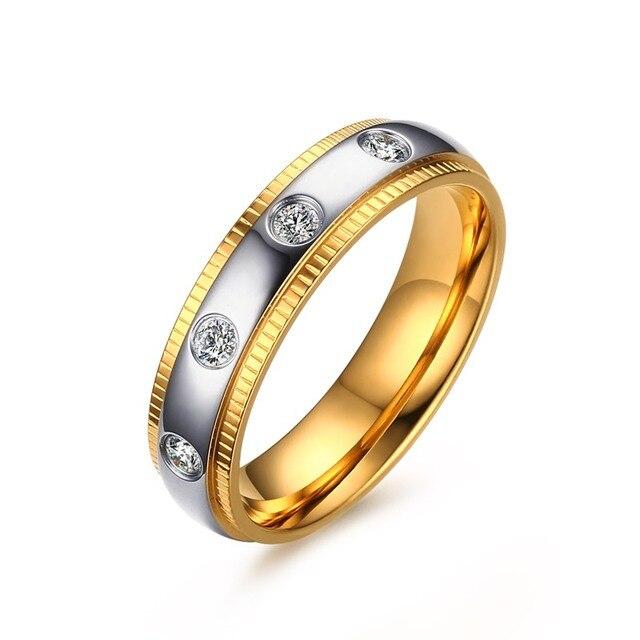 Aliexpresscom Buy New CZ Rings Women Stainless Steel Gear Rings