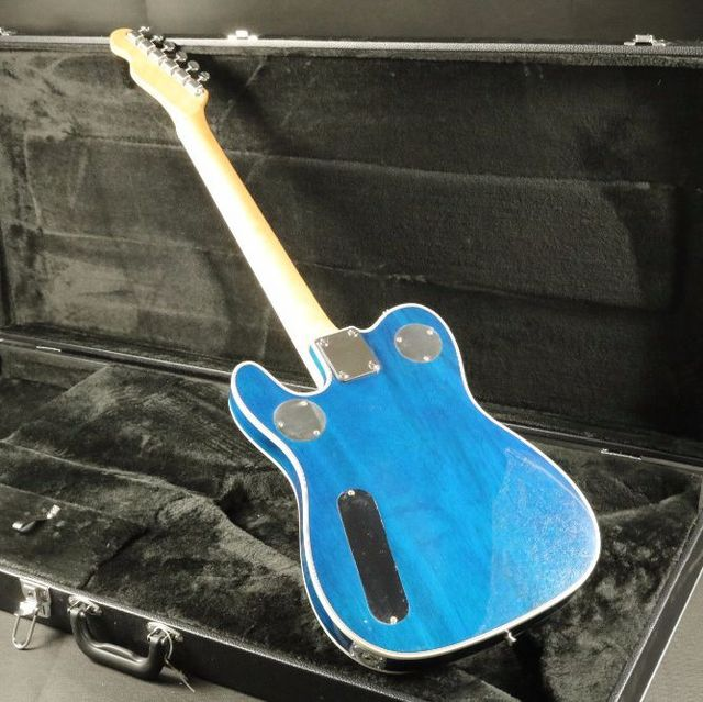 Quilted Maple Top Semi Hollow Body Electric Guitar T-01 Abalone Inlay Bigsby Bridge Blue Tele Free Shipping 1