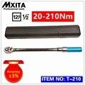 MXITA 1/2 20-210Nm точность 3% Высокоточный Регулируемый динамометрический ключ автомобильный гаечный ключ для ремонта велосипеда набор ручных инс...