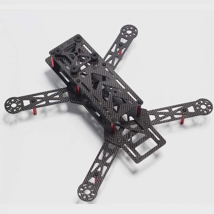 Latest Mini 4-Axis QAV280mm Carbon Fiber  H FPV Quadcopter Frame Kit Not FPV250 QAV250 zmr250 250mm carbon fiber 4 axis 250 mm fpv quadcopter mini h quad frame for qav250