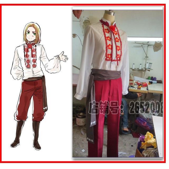 7efe3b947c846 2016 APH Axis Powers Hetalia Felix łukasiewicza Cos Anime Party Cosplay  kostium jednolite odzież garnitur Unisex