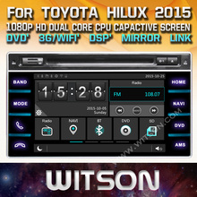 WITSON CAR DVD GPS For TOYOTA HILUX 2015/REVO 2015 car audio navi with Capctive Screen 1080P DSP WiFi 3G DVR Good Price