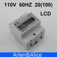 20(100)A 110V 60HZ DDS238-4  Single phase Din rail KWH Watt hour din-rail energy meter LCD