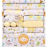 18 sztuka/zestaw 100% bawełna newborn baby chłopcy i dziewczyny odzież dla niemowląt garnitur spodnie outfits odzież niemowlęca zestaw upominkowy zestaw niebieski żółty różowy