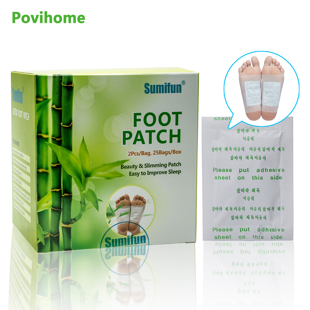 50pcs Patches+50pcs Adhesives Kinoki Detox Foot Patches Toxins Feet Cleansing Herbal Adhesive Massage Organic Herbal Pads K02401