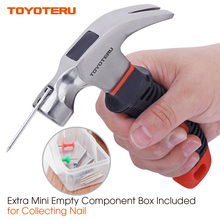 ФОТО toyoteru 8oz small claw hammer mini soft rubber handle mirror polished head for household repair outdoor camping
