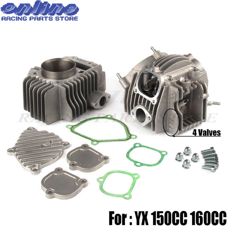 YX150 YX160 4 Valves Engine Cylinder Head Kit Parts For