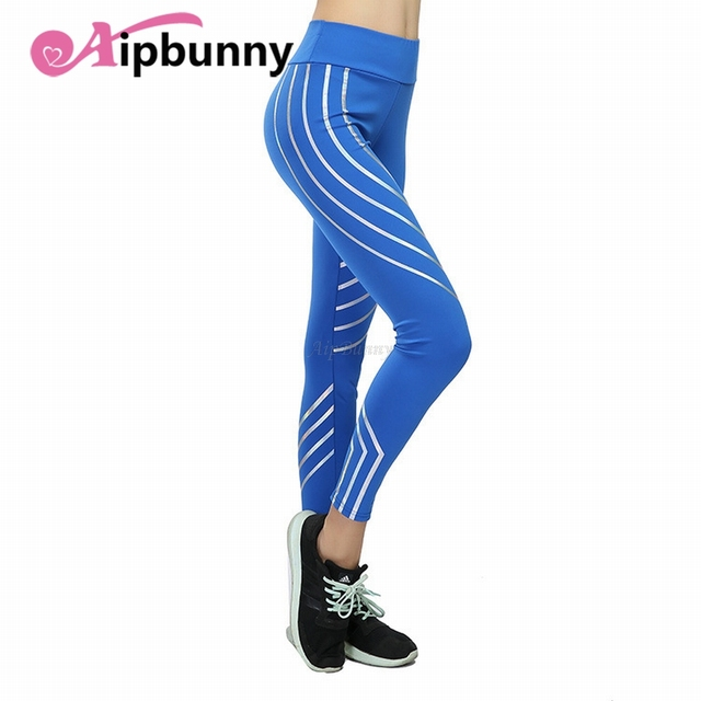Compact Laser Reflective Legging Women'S Yoga-Pants Push-Up Sport Fitness-Femme Leggings Tranining Running Joggers Sweatpants