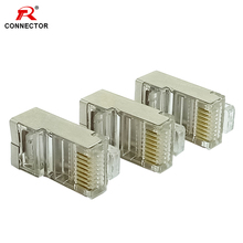 5pcs Gold Plated RJ45 Network Cables Modular Plug Cat5 CAT5e Connector 8P8C utp Shielded Modular Rj45 Plug Terminals factory price 50pcs cat5 cat5e network connector rj45 metal cable modular plug terminals terminals free shipping mar3