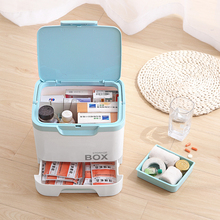 050 Multi-function Portable multi-layer partition sealed box with large capacity drawer storage Medicine chest 25*18*19cm