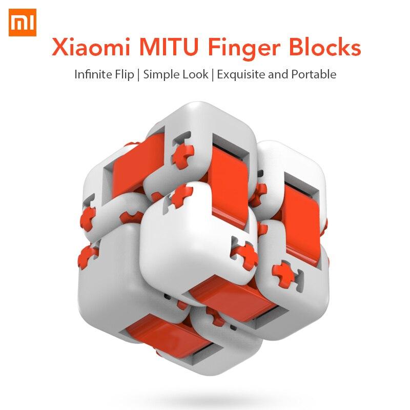 Оригинальный Xiaomi куб Миту Spinner пальчиковые кубики Портативный Smart палец игрушки разведки игрушки для Xiaomi умный дом подарок для малыша купить на AliExpress