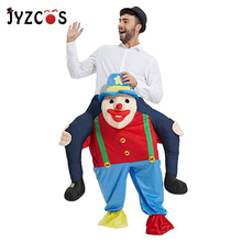 JYZCOS Ride on Clown Costume Carry Mascot Fancy Pants Adult Purim Halloween Cosplay Clothes