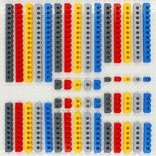 טכני אבני בניין בתפזורת חלקים עבה לבני MOC 10 גודל 5 צבע שילוב משובץ ארוך קרן צעצועי הרבה MOC טכני חלקי חם