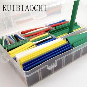Jeu de Tubes thermorétractable 2:1 | 9 tailles 7 couleurs, manchon de Tubes en polyolé rétractable enveloppé, 385 pièces/lot