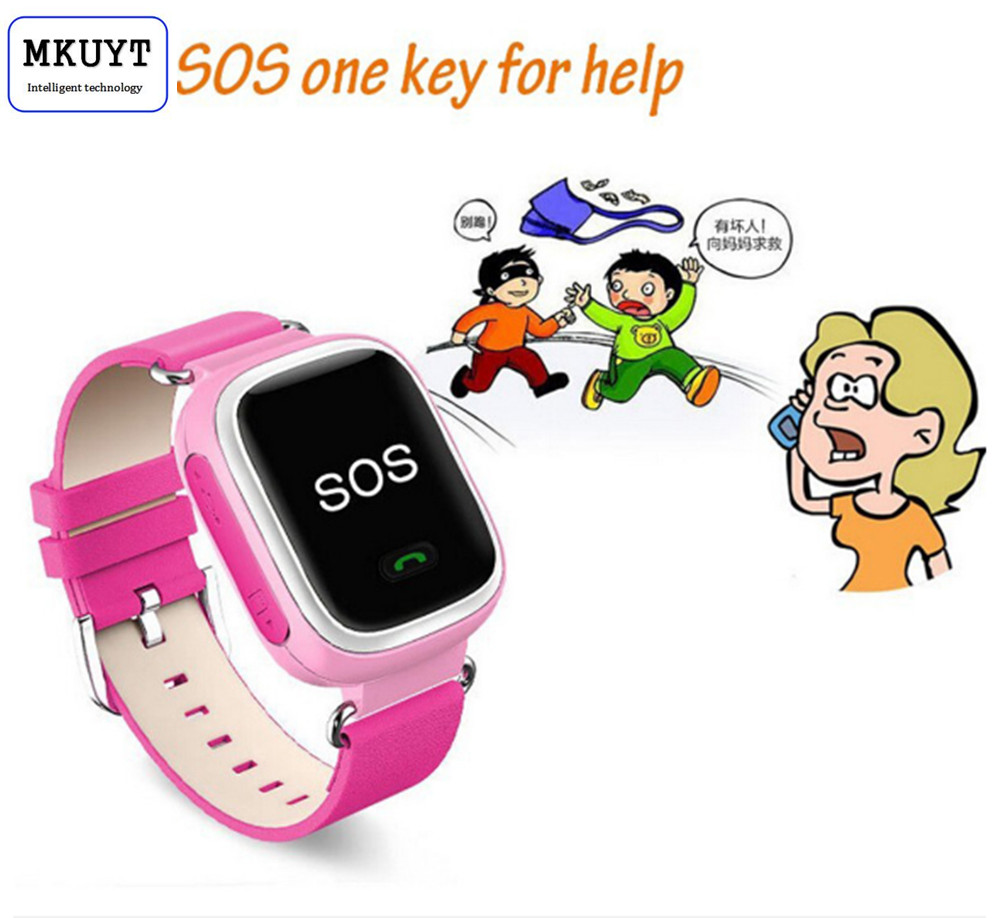 MKUYT Q60 Kid GPS Smart Watch Wristwatch SOS Call Location Finder Locator Device Tracker for Kid Safe Anti Lost Monitor