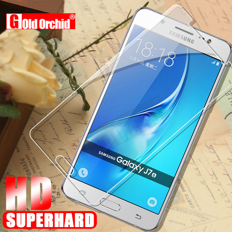 Gold Orchid 9H For <font><b>Samsung</b></font> Galaxy J520F J530F Tempered <font><b>Glass</b></font> HD 2.5D For <font><b>Samsung</b></font> Galaxy J3 <font><b>J5</b></font> J7 2016 2017 Screen Protector image