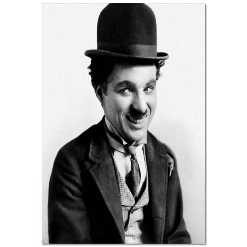 Custom Charlie Chaplin Canvas Poster 27X40cm30X45cm Home Decor Canvas Printing Silk Fabric Print Wall Poster No Frame