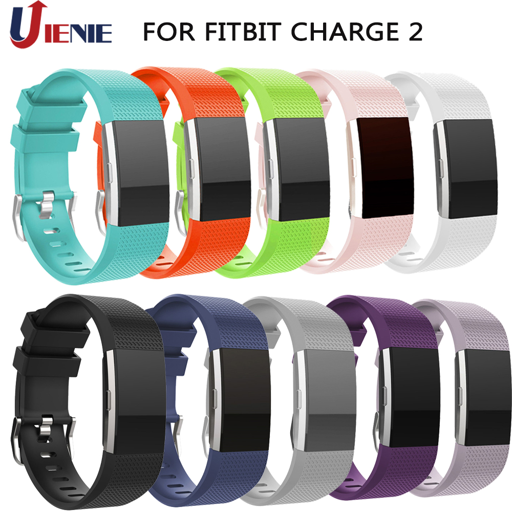 Silicone Watchband Wrist Band For Fitbit Charge 2 Strap Smart Watch Bracelet Sport Wristband For Fitbit Charge2 Band Correa