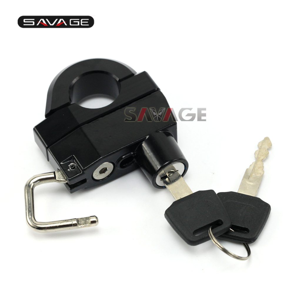 FOR KAWASAKI VN Motorcycle Universal 25mm Handlebars Helmet Lock Key Anti-thief Security Padlock Accessories