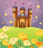 Thin Fabric Cloth Printed Photography Background Children S Castle Backdrop 5ft X 7ft D 744