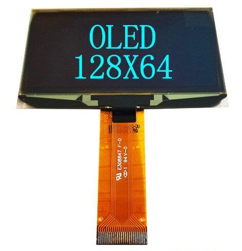 2.42 2.4 인치 파란색 흰색 녹색 노란색 128x64 OLED 디스플레이 모듈 8bit 6800/8080 4 SPI 직렬 I2C IIC 인터페이스 24 핀 ssd1309