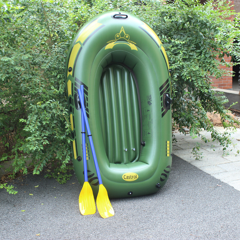 ФОТО New 2 persons PVC Thick drift boat Kayak canoeing outdoor Adwenture fishing inflatable boat 188 * 114cm