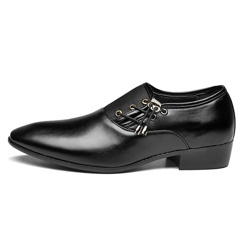 LIN KING New Plus Size 48 Men Formal Shoe Flats Oxford Shoes For Male Pointed Toe Lace Up Leather Office Business Dress Shoes in Formal Shoes from Shoes