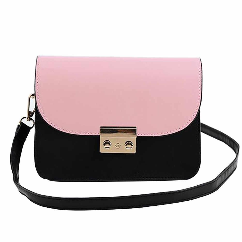 c2a7c5d5128e Fashion Women Shoulder Bag luxury handbags women bags designer Contrast  Color Trends Wild Crossbody Bag for