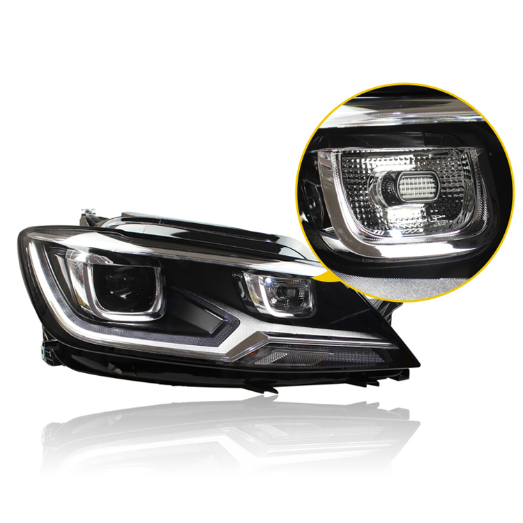 Ownsun New Eagle Eyes LED DRL Bi-xenon Projector Lens Headlights For VW Lamando 2015 ownsun new style tear drop led projector lens headlight for new ford focus 2012 2013