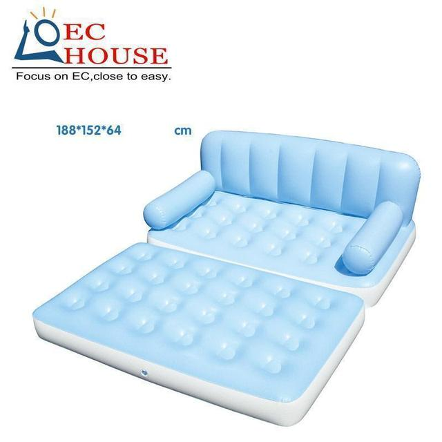 4145 household Inflatable bed lounger portable sofa flocking FREE SHIPPING