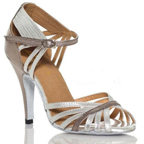 New Professional Silver font b Salsa b font Dance font b Shoes b font For Women