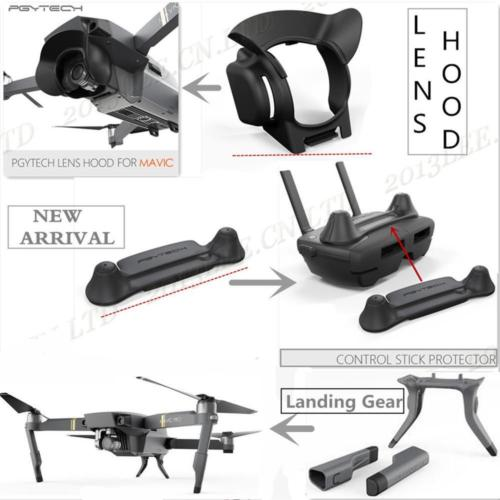 PGY NEW Extended Landing Gear Lens Hood Rocker Protector For DJI Mavic Pro Parts
