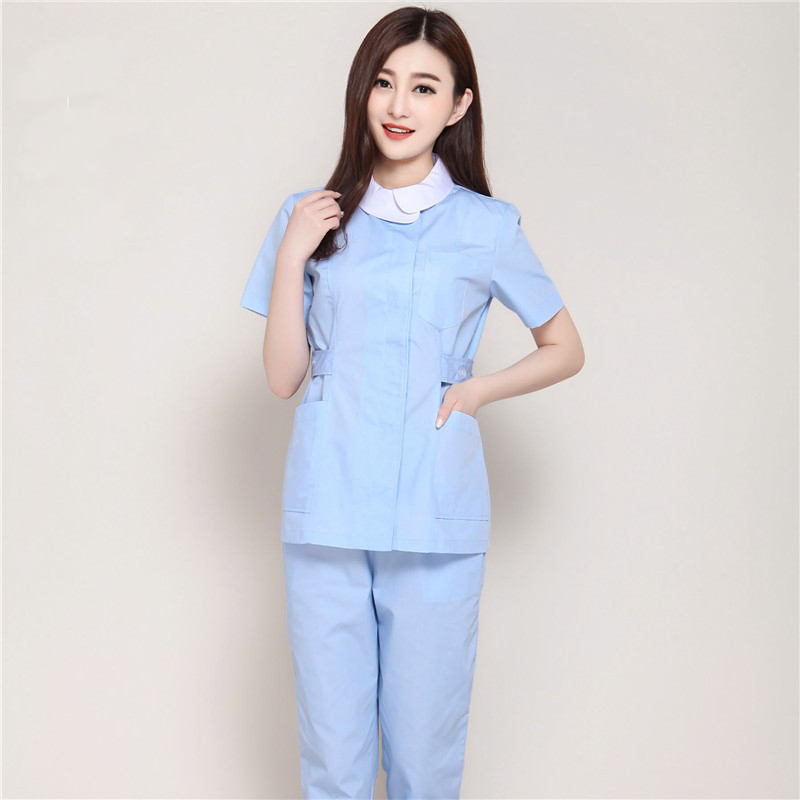 Nurse Uniform Work Wear & Uniforms 2017 Fashion Design Hospital Nurse Uniform Slim Fit Medical Scrub Clothes Beauty Salon Workwear Overalls Pharmacy Lab Coats In Pain