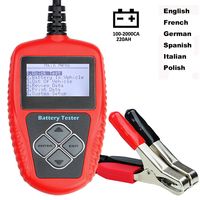Car Battery Tester 12V Digital Analyzer 2000CCA 220AH BAD Cell Test Car Battery Diagnostic Tools Multi