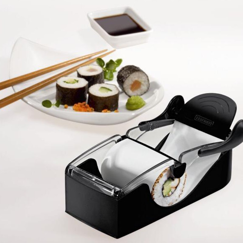 1Set Magic Sushi Roll Maker DIY Rice Roller Mold Perfect Cutter Easy Sushi Making Machine Kitchen Gadget image