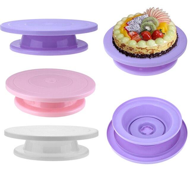 28 см Пластиковый тортик поворотный стол вращающаяся противоскользящая вращающаяся подставка для украшения торта роторный стол круглая подставка для торта кухонные принадлежности для выпечки
