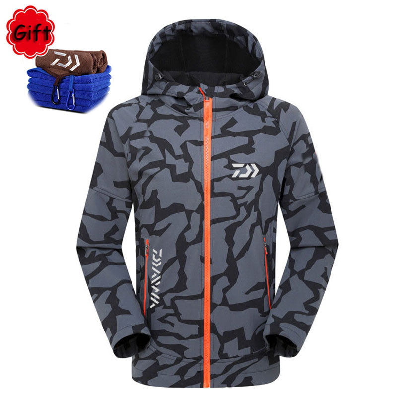 цена Fishing Clothing Jacket Winter Spring Outdoor Sports Jersey Men Keep Warm Sunproof Waterproof for Fishing Climbing Hiking