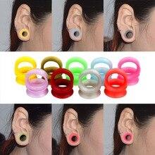 Expander-Stretcher Earlets-Earrings Ear-Gauge Flesh-Tunnel Body-Piercing Silicone Flexible