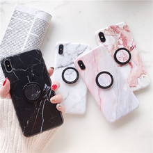 Ring Stand marble Case for iphone XS Max Matte silicon case iPhone 6 6s 7 8 Plus X XR ring grip stand holder Cover