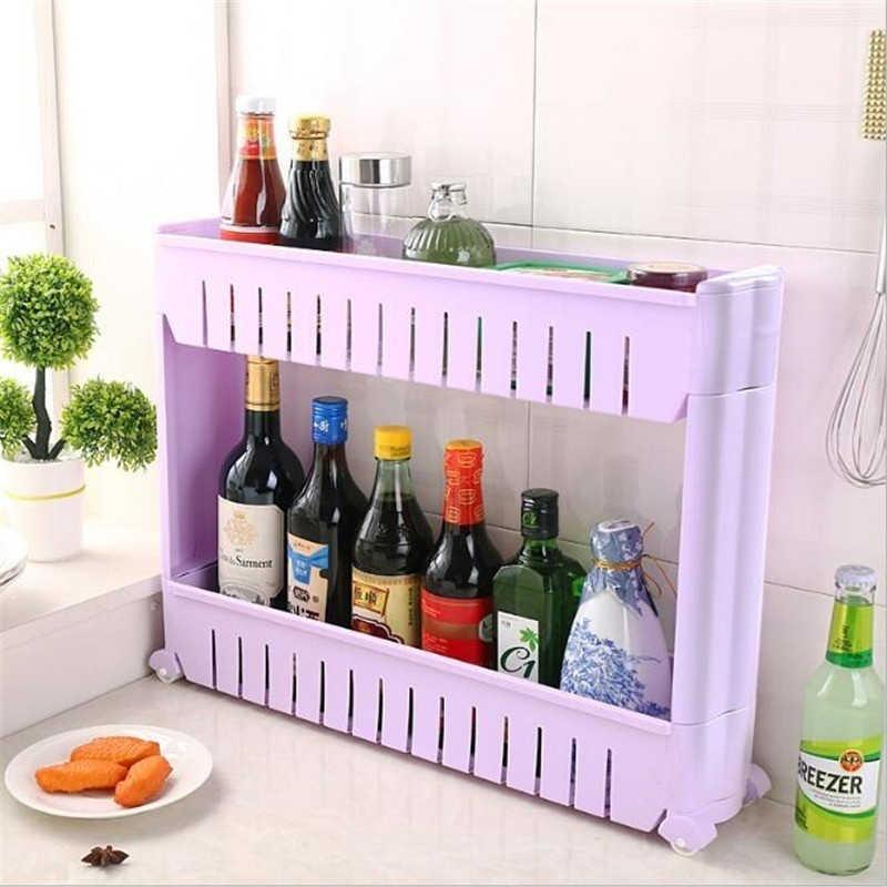 Magie Union Schmale Lagerung Regal Abnehmbaren stand 2/3/4 Schicht Lücke  Regale Küche Badezimmer Kühlschrank lagerung Rack