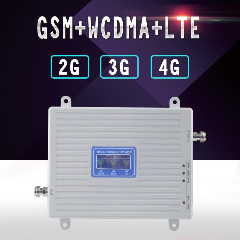 2g 3g 4g Cellular Signal Repeater GSM 900 WCDMA 2100 LTE 2600 Tri Band 70dB LCD Display GSM 3g UMTS Signal Booster 4g Verstärker